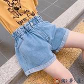 女童短褲潮兒童洋氣破洞牛仔褲外穿女孩百搭褲子夏季【淘夢屋】