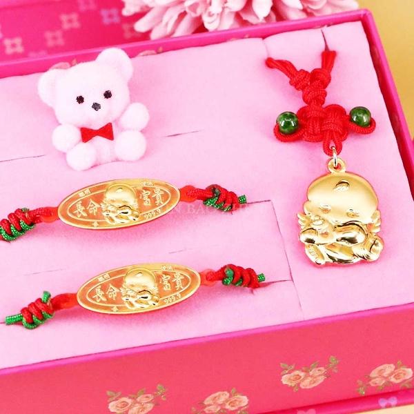 寶貝天使-彌月金飾禮盒(0.10錢)