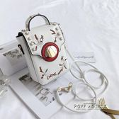 手機包 迷你小包包女韓版刺繡小方包單肩包百搭斜背包手機包