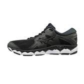 美津濃 MIZUNO 男跑鞋 WAVE SKY 2 (黑) 全腳掌波浪片款路跑鞋 J1GC180209【 胖媛的店 】