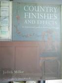 【書寶二手書T4/設計_QIO】Country Finishes and Effects_Judith Miller