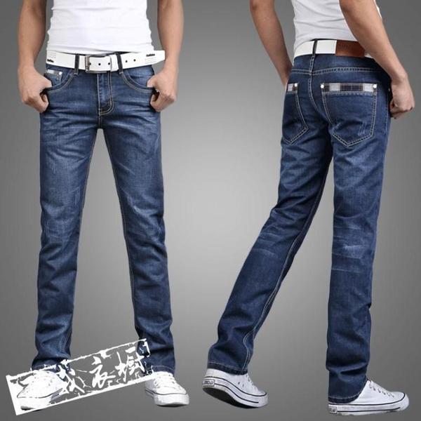 牛仔褲休閒褲 夏季常規商務休閒直筒寬鬆牛仔褲男士青年寬鬆中大尺碼正韓長褲子 鉅惠85折