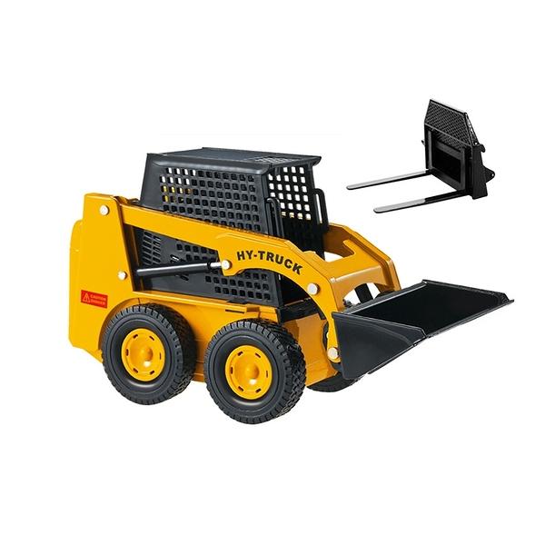 HY TRUCK華一 2512-5多功能車 工程合金車模型車 兩用裝載堆高機 鏟裝機(1:25)【楚崴玩具】