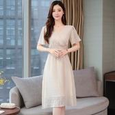 依Baby 洋裝 流行裙夏季新款女裝很仙的法國小眾連身裙仙女超仙甜美長裙