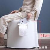 可移動馬桶老人馬桶坐便器 家用孕婦舒適痰盂便攜式成人加厚尿桶wl4325『黑色妹妹』
