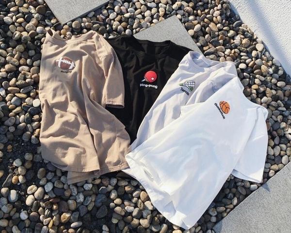 FINDSENSE品牌 日系 男 時尚潮流 休閒 特色印花 籃球 網球 橄欖球