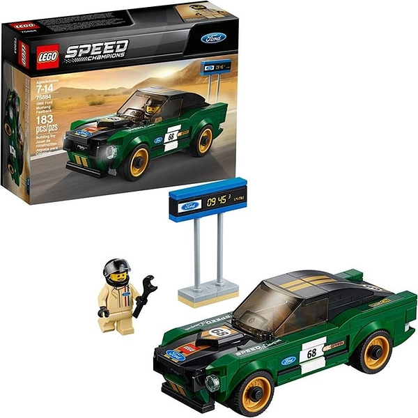 LEGO 樂高 速度冠軍1968年福特野馬Fastback 75884 (183件)