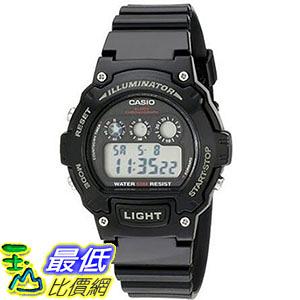 [美國直購] 手錶 Casio Kids W-214HC-1AVCF Black Resin Digital Watch