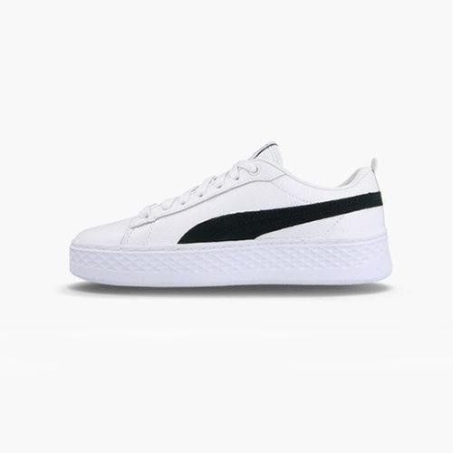 PUMA SMASH PLATFORM L 女款白色經典復古休閒鞋-NO.36648712