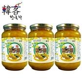 A10391    【韓客】蜂蜜柚子茶2000g/瓶x3入