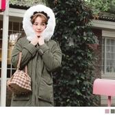 《KG0652》韓系毛領科技保暖羽絨大口袋長版外套 OrangeBear
