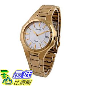 [美國直購] Seiko Men s男士手錶 SGEF64 Stainless Steel Analog with Silver Dial Watch