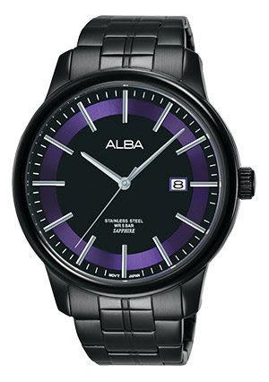 ALBA雅柏錶 七夕情人節限定 台灣獨賣 限定300只 日期顯示窗 IP黑電鍍 男錶 AS9D91X1 VJ42-X227SD