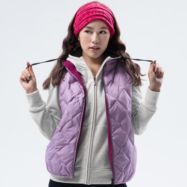 PolarStar 女 雙面穿羽絨背心『粉紫』P18256 戶外 休閒 登山 露營 保暖 禦寒 防風 刷毛