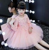 洋裝連衣裙公主裙洋裝連身裙加絨兒童禮服【不二雜貨】