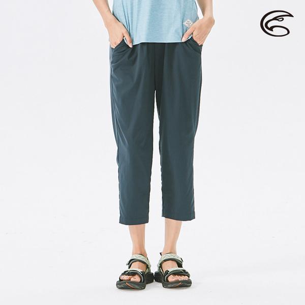 ADISI 女抗UV輕薄吸濕快乾透氣八分褲AP2111060 (S-2XL) / 吸排速乾 輕薄透氣 防曬 抗紫外線 休閒褲