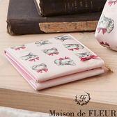 Maison de FLEUR ♡ 滿板貓咪圖案鏡子 - Maison de FLEUR