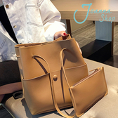 高級感包包一買兩用氣質簡約時尚水桶肩背包1-Joanna Shop