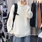 男士毛衣 高領毛衣男士秋冬季加厚打底針織衫日系內搭寬松慵懶韓版潮流個性 交換禮物
