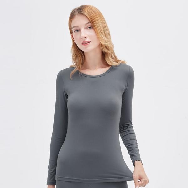 UV100 防曬 抗UV 遠紅-蓄熱保暖圓領舒適女上衣