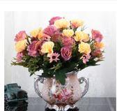 歐式仿真花束絹花套裝擺件客廳餐桌假花干花盆栽擺設裝飾花藝新房
