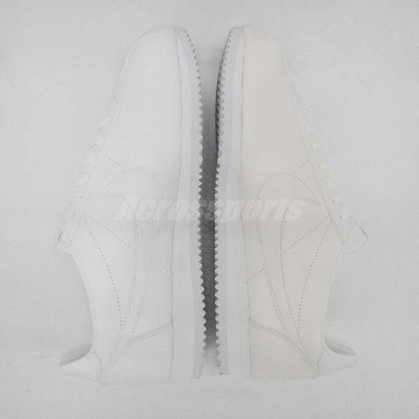 【NG出清】Nike 阿甘鞋 Wmns Classic Cortez Leather 雙腳部分發黃 每雙狀況不一 全白 女鞋【PUMP306】