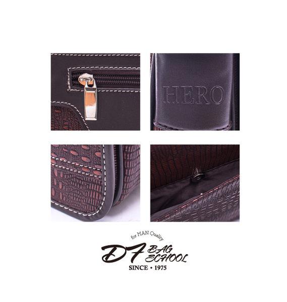 DF BAGSCHOOL - 硬挺蛇皮壓紋直立式側背包