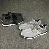 運動鞋跑步鞋大碼男鞋襪子鞋網面透氣輕便 可可鞋櫃