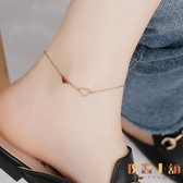 韓版腳鏈女簡約性感個性情侶鈦鋼足鏈本命年腳鏈子【倪醬小舖】
