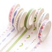 【超取399免運】日式手繪小清新和紙膠帶 細款手帳素材邊框膠帶 創意裝飾貼紙