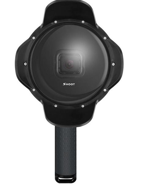 Gopro hero5/6水面鏡頭罩 5/6代蓮花魚眼 可拆卸防水殼適用原裝