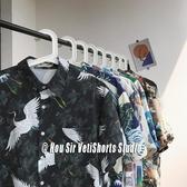 長袖襯衫 網紅花襯衫男短袖港風復古印花很仙的痞帥夏威夷2020秋季長袖襯衣 萬寶屋