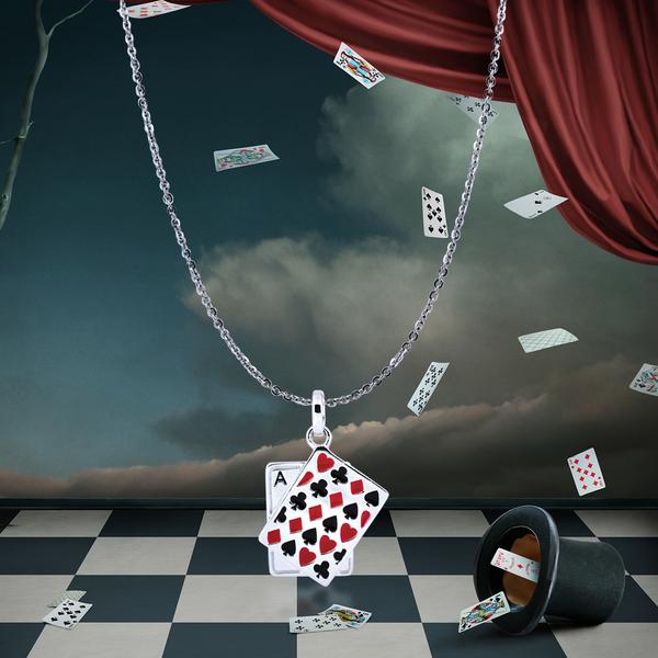 特價 925純銀 「撲克牌」項墜 / 贈18吋白鋼項鍊
