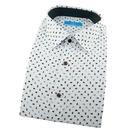 【南紡購物中心】【襯衫工房】長袖襯衫-白底黑色變形蟲印花