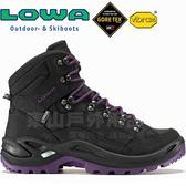 Lowa 320945-9957黑/藍莓 女Gore-Tex多功能健行鞋 Renegade GTX黃金大底登山鞋/軍用靴