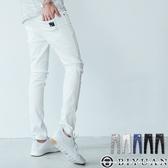 【OBIYUAN】超彈力 工作褲 韓版貼身素面長褲休閒褲 共5色【HK4205】