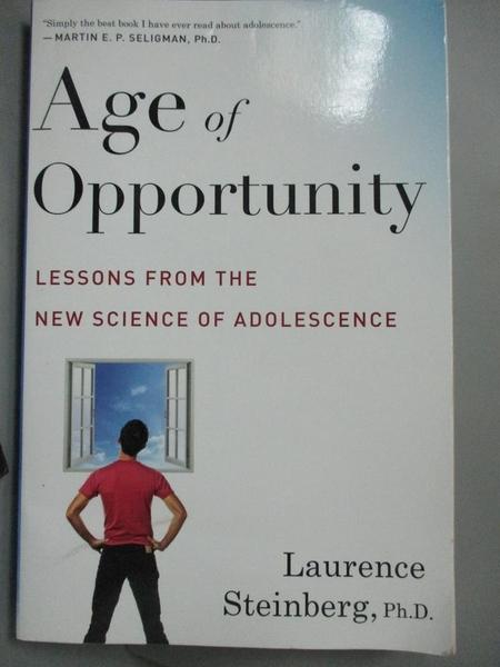 【書寶二手書T6/心理_LHY】Age of Opportunity: Lessons from the New Sci