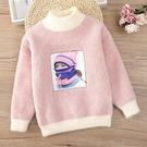 兒童毛衣 女童毛衣2019新款洋氣秋冬裝打底衫中大兒童裝加厚正韓套頭針織衫