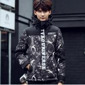 羽絨服2018冬季男士短款羽絨服吉普盾迷彩連帽韓版修身青年加厚外套男裝 時光之旅