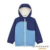 【GIORDANO】童裝搖粒絨內裡連帽鋪棉外套-71 尼亞加拉河藍