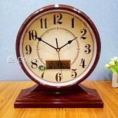 台鐘歐式復古座鐘田園客廳鐘錶創意床頭靜音時鐘臥室台鐘石英鐘台式鐘YXS 快速出貨