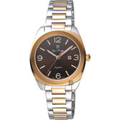 Olympianus 奧柏 經典復刻女錶-咖啡x雙色/34mm 5706LSR