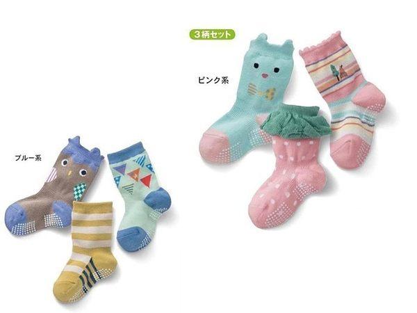 【發現。好貨】千趣會 襪子 3雙组嬰幼童襪 防滑短筒寶寶襪 男女立體童襪 卡通兒童襪 C
