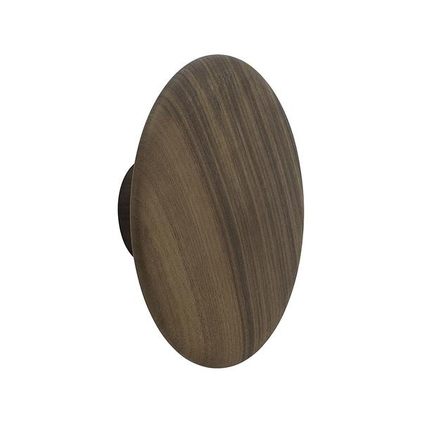 丹麥 Muuto The Dots Wood Coat Hooks 17cm 點點造型 木質 衣帽勾 - 大尺寸 17cm(胡桃木色)