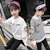 女童長袖t恤純棉2020新款體恤打底衫兒童洋氣中大童秋裝女孩上衣 Korea時尚記