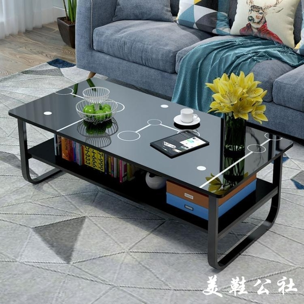 北歐茶幾木質簡約現代小戶型客廳沙發邊桌家用臥室創意雙層茶桌子【美鞋公社】