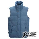 PolarStar 男 羽絨背心 │CNS 90/10羽絨 『藍綠』P15253