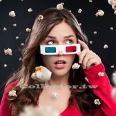 紙製紅藍3D眼鏡 白紙卡3D立體眼鏡 3D電影專用眼鏡