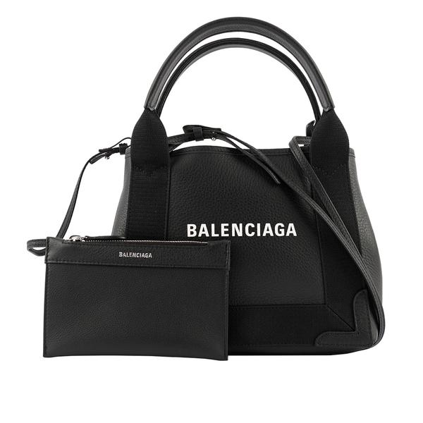 【BALENCIAGA】NAVY CABAS牛皮二用包/子母包(黑色) XS 390346 D6WXN 1060