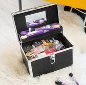 專業水乳護膚品化妝品收納包手提美甲半永久工具箱化妆箱LZ2370【野之旅】